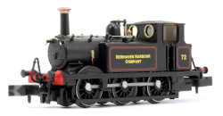2S-012-016 Terrier A1X No. 72 Newhaven Harbour Company  Lined Black