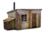 FL 196 Corrugated Hut & Log Store