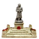 SS 380 War memorial with WWI figurine