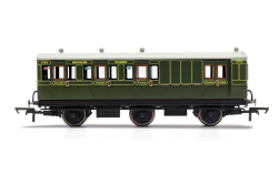 Hornby R40087 SR 6 Wheel Coach, Brake 3RD Class,3750