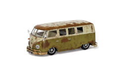 Corgi VA14501 VW Type 2 1500 Camper Rat-Look Mango Green and Seagull Grey