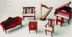 DF811 7 Piece Music Room Set  1:12th Scale